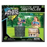 Blast Patrol Inflatable Obstacle - Green Barrier + Crate