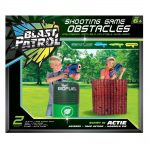 Blast Patrol Inflatable Obstacle - Red Wall + Barrel