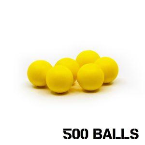 Valken Gotcha .50 cal Reusuable Soft Foam Balls - 500 balls