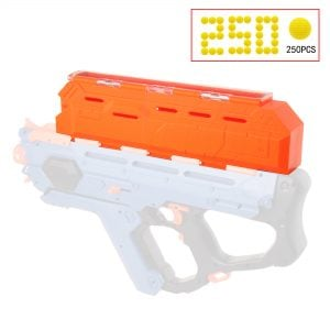 Worker Extended Hopper for Nerf Rival Perses Orange
