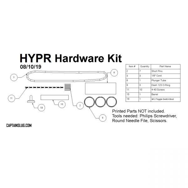 Captain Slug HYPR Homemade - Hardware Kit