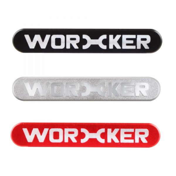 Worker Metal Logo Sticker