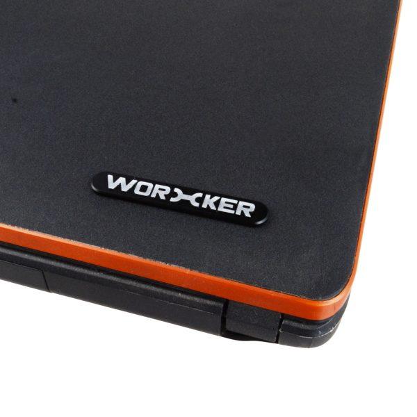 Worker Metal Logo Sticker Black