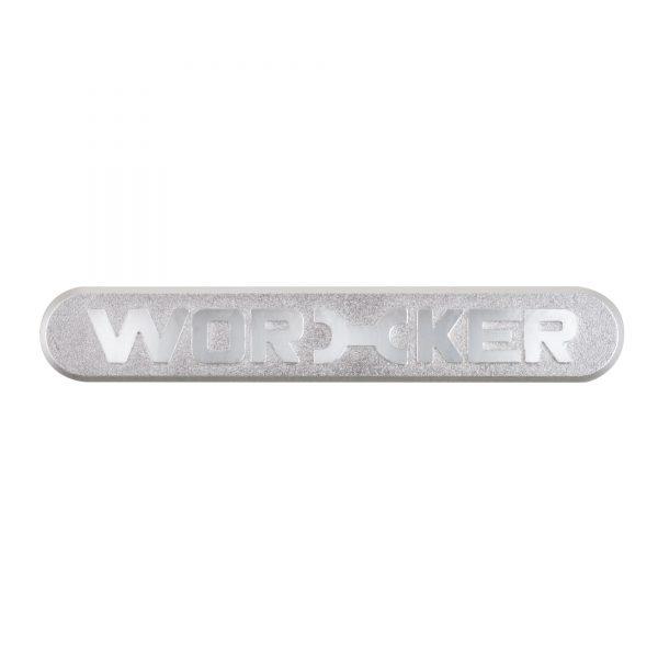 Worker Metal Logo Sticker Silver