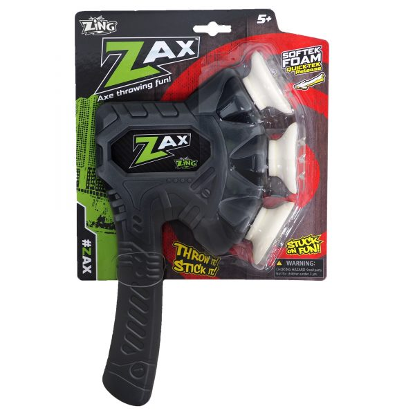 Zing Zax - Soft and Safe Foam Throwing Axe - Black