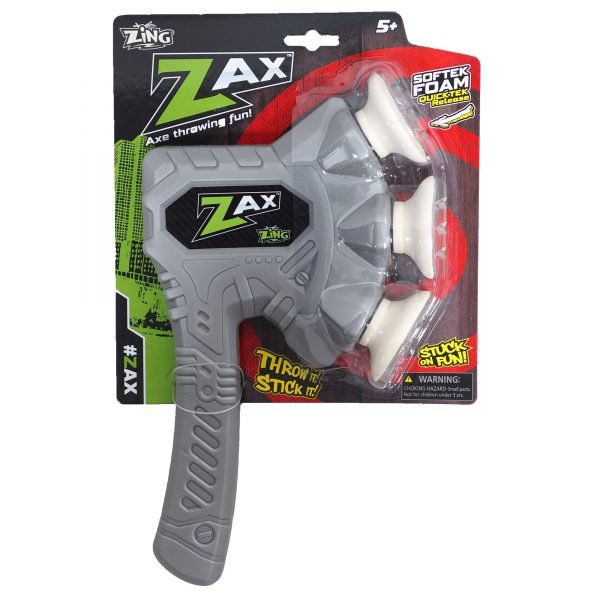 Zing Zax - Soft and Safe Foam Throwing Axe - Silver
