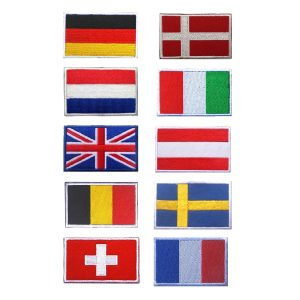 Country Flag Embroidered Patches