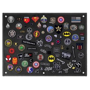 Patch Wall Display Panel for Velcro Patches - Black - Medium